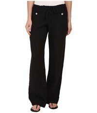 Allen Allen Linen Long Pant Ll9497 Black Women's Casual Pants