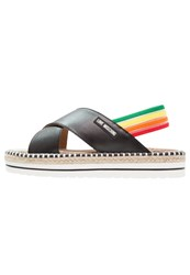 Love Moschino Rainbow Platform Sandals Nero Black