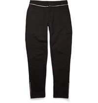 Mcq By Alexander Mcqueen Zipped Cotton Blend Jersey Trousers Black
