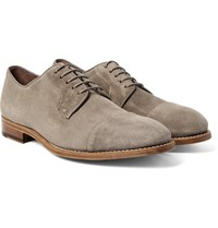Paul Smith Ernest Cap Toe Suede Derby Shoes Neutral
