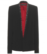 Haider Ackermann Embroidered Crepe Blazer Black