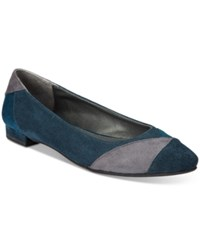 Rialto Autumn Pointed Toe Flats Women's Shoes Navy Multi