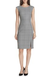 Boss Deboa Twill Sheath Dress Glencheck Fantasy