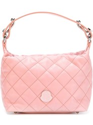 Moncler Quilted Tote Pink And Purple