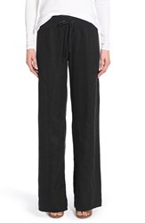 Petite Women's Eileen Fisher Organic Linen Wide Leg Pants