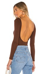Privacy Please Nima Bodysuit In Chocolate. Chocolate Brown