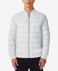 32 Degrees Men's Packable Bomber Jacket Silver Melange