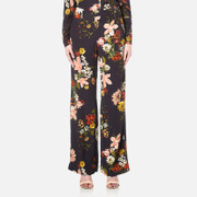 Gestuz Women's Cally Floral Print Wide Leg Trousers Multi Colour Flower