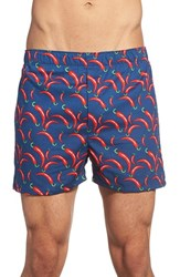 Men's The Rail 'Chili Peppers' Print Woven Cotton Boxers 3 For 25