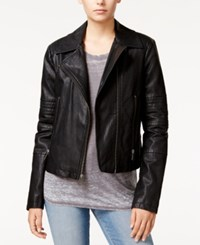 Levi's Faux Leather Moto Jacket Black
