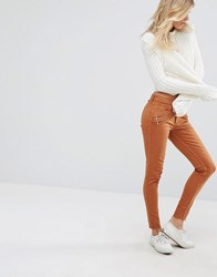 Abercrombie And Fitch Low Rise Skinny Trousers Brown