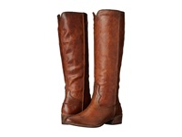 Frye Ray Seam Tall Cognac Washed Antique Pull Up Cowboy Boots Brown