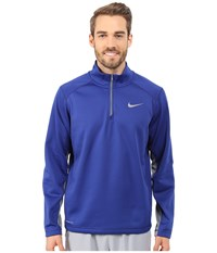 Nike Ko 1 4 Zip Top Deep Royal Blue Cool Grey Cool Grey Men's Workout