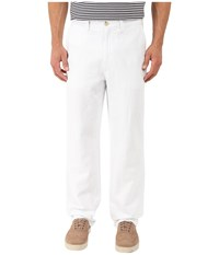 Nautica Linen Cotton Pants Bright White Men's Clothing