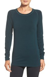 Zella Women's 'Chamonix' Long Sleeve Seamless Tee Green Ponderosa Heather