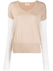 Ma'ry'ya Two Tone Knitted Jumper 60