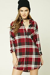 Forever 21 Buffalo Plaid Shirt Dress