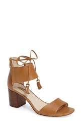 Louise Et Cie Women's Keegan Block Heel Sandal True Tan Leather