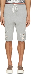 Miharayasuhiro Grey Destroyed Lounge Shorts