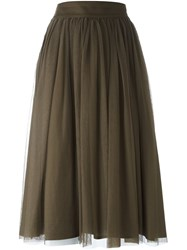Roberto Collina Midi Skirt Brown