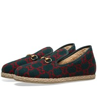 Gucci Fria Wool Loafer Green