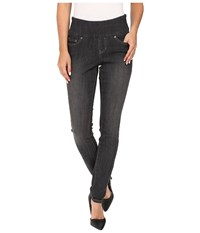 Jag Jeans Nora Pull On Skinny Comfort Denim In Thunder Grey Thunder Grey Women's Gray