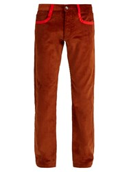 Missoni Straight Leg Cotton Corduroy Trousers Brown
