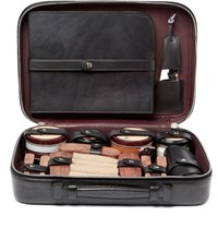 Berluti Shoe Care Kit With Leather Case Black
