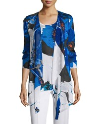 Berek Floral Lapis Of Luxury Cardigan Plus Size Cobalt