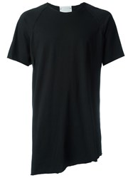 Lost And Found Rooms 'Taped Raglan' T Shirt Black
