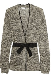 Brunello Cucinelli Sequin Embellished Hemp Blend Cardigan Black