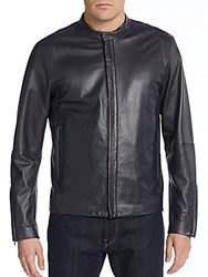 Theory Russo Revolt Leather Jacket Eclipse