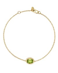 Bloomingdale's Peridot Oval Bracelet In 14K Yellow Gold 100 Exclusive Green Gold
