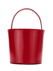 Sarah Chofakian Leather Bucket Bag Red