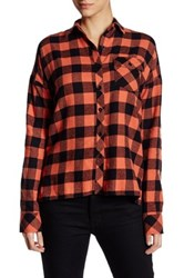 Volcom Growin' Wild Buffalo Check Shirt Orange
