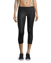 Alo Yoga Airbrush Glossy Capri Sport Leggings Black