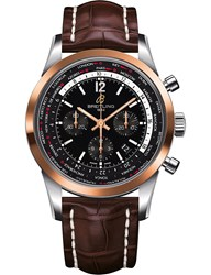 Breitling Ub0510u4 Bc26 757P Transocean Chronograph Leather Watch