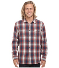 Rip Curl Salida Long Sleeve Flannel Denim Blue Men's Clothing