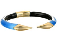Alexis Bittar Mirrored Pyramid Brake Hinge Bracelet Horizon Blue Clear Bracelet
