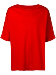 Casey Casey Oversized T Shirt Red
