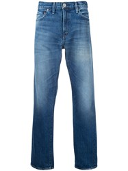 Red Card Stonewashed Wide Leg Jeans Men Cotton 28 Blue