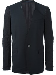 Lanvin Jacket With Cut Collar And Inside Out Sleeve Blue