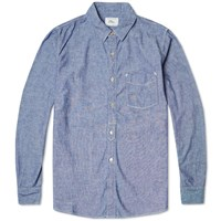 Spellbound Button Down Selvedge Chambray Shirt Sax