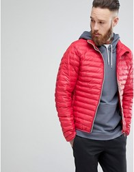 Hunter Padded Mid Layer Jacket In Red Mlr