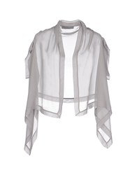 D.Exterior Topwear Shrugs Women Light Grey