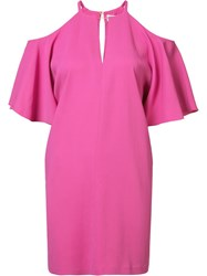 Rachel Zoe Cold Shoulder Dress Pink Purple
