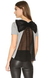 Red Valentino T Shirt With Bow Detail Grey Melange