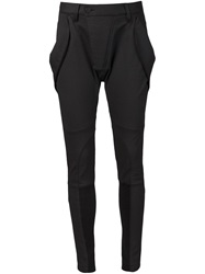 Alexandre Plokhov Tapered Panel Trousers Black