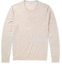 Gieves And Hawkes Cashmere Wool And Silk Blend Sweater Brown