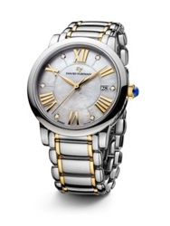 David Yurman Classic 38Mm Stainless Steel Quartz Watch With 18K Gold And Diamonds Silver Gold
